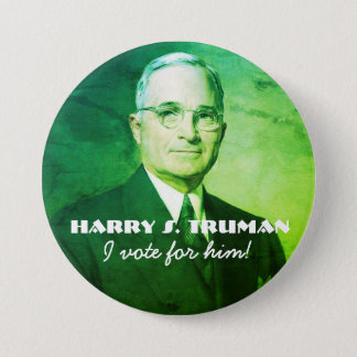 Harry S. Truman Runder Button 7,6 Cm