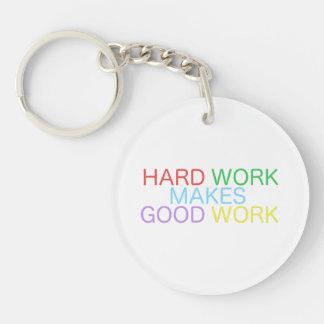 Harte Arbeit macht gute Arbeit Schlüsselanhänger