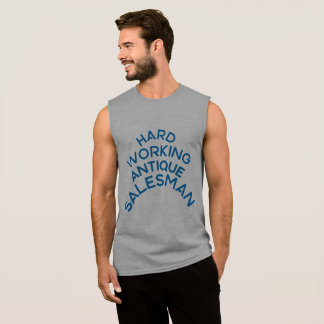 Hartes arbeitendes antikes Verkäufer-T-Shirt Ärmelloses Shirt