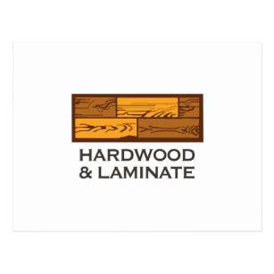 Hartholz U. Laminat Postkarte
