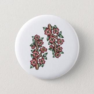 Hartriegel-Baum-Farbe Runder Button 5,7 Cm