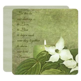 Hartriegel blüht Hochzeits-Einladung Karte