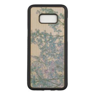 Hartriegel-Blumen-lila Lavendel abgetönte Carved Samsung Galaxy S8+ Hülle