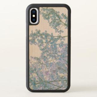 Hartriegel-Blumen-lila Lavendel abgetönte iPhone X Hülle