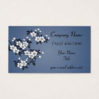 Hartriegel-Blüten Visitenkarte