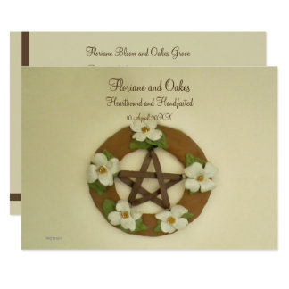 Hartriegel-Pentagramm Handfasting Karte