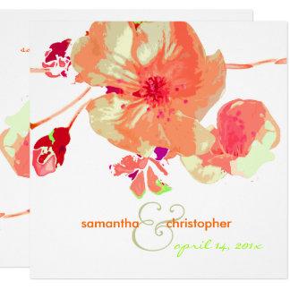 Hartriegel-/Rosa/Pfirsich/Hochzeit Einladungen