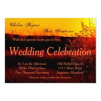 Hartriegel-Sonnenuntergang-Hochzeits-Einladung Karte