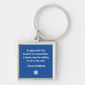 """Häschen-Buddhismus """"Schönheit der Schneeflocke"""" Schlüsselanhänger"""