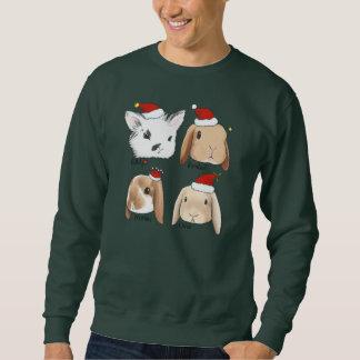Häschen-Bündel-Weihnachtsstrickjacke Sweatshirt