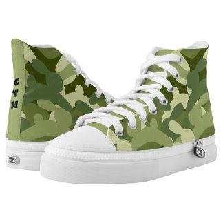 Häschen-Camouflage Hoch-geschnittene Sneaker