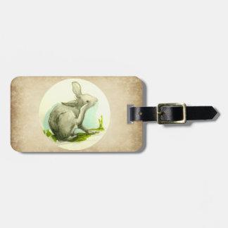 Häschen-Kaninchen-TAN-Imitat-Leder Kofferanhänger