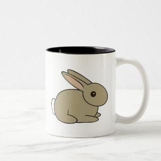 Häschen-Kaninchen-Tasse Zweifarbige Tasse