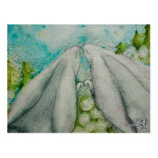 Häschen-Liebe Postkarte