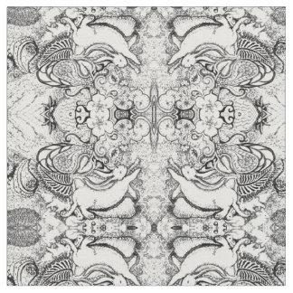 Häschen-Mandala-Muster Stoff