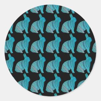Häschen-Muster-Porto durch Janz Runder Aufkleber