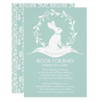 Häschen-neutrales Babyparty-Buch für Baby-Karte Karte