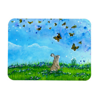Häschen-u. Schmetterlings-Magnet durch Bihrle Magnet