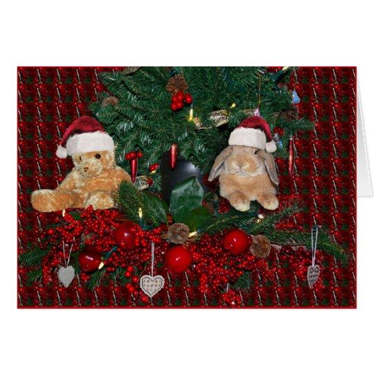 Häschen-Weihnachtskarte 5 Karte