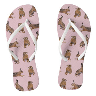 Hase-Raserei drehen Reinfälle um (Rosa) Flip Flops