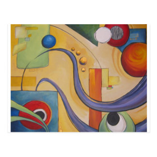Haselnuss abstrakt postkarte
