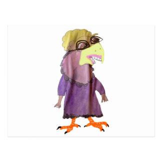 Haselnuss die Vogel Dame Postkarte