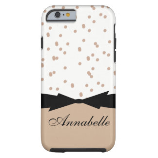 HASELNUSS-PUNKTE DES CHIC-IPHONE 6 CASE_GIRLY TOUGH iPhone 6 HÜLLE