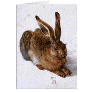 """""""Hasen"""" durch Albrecht Dürer, 1502 Grußkarte"""