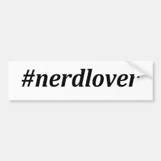 Hashtag - amant nerd autocollant de voiture