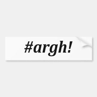 Hashtag - Argh ! Autocollant De Voiture