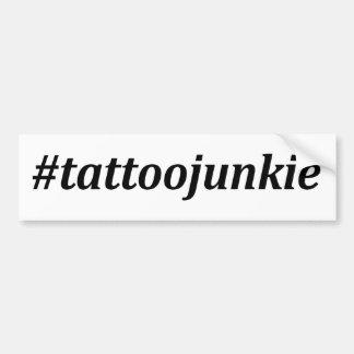 Hashtag - drogué de tatouage autocollant de voiture