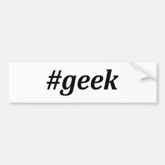 Hashtag - geek autocollant de voiture