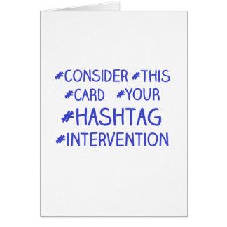 Hashtag Intervention Karte