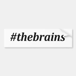 Hashtag - les cerveaux autocollant de voiture