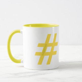 Hashtag personalisiert, mit Ihrer Zitronenteewahl Tasse
