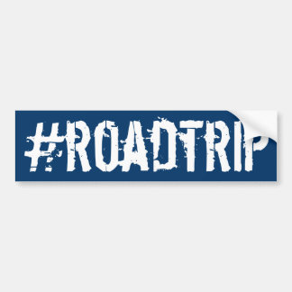 Hashtag roadtrip autoaufkleber