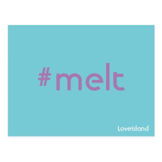 Hashtag SchmelzLiebe-Insel-Postkarte Postkarte