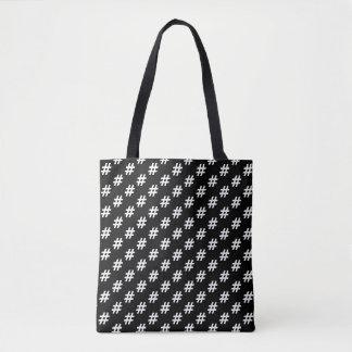 HashTag Schwarzes Tasche