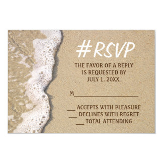Hashtag Strand-Hochzeit UAWG 8,9 X 12,7 Cm Einladungskarte