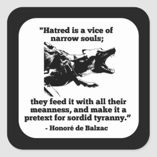 Hass-Aufkleber Quadratischer Aufkleber