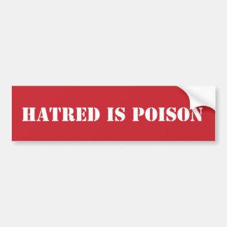 Hass ist Giftschablone-Autoaufkleber Autoaufkleber