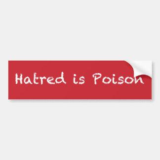 Hass ist Kreide-ähnlicher Autoaufkleber des Gifts