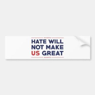 Hass macht US nicht groß Autoaufkleber