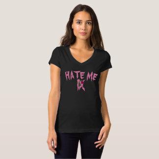 """""""Hassen Sie mich"""" T - Shirt der V-Hals der Frauen"""