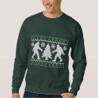 Hässliche Feiertags-Bigfoot-Weihnachtsstrickjacke Sweatshirt