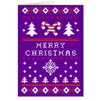 Hässliche Strickjacke-Weihnachtskarte Karte
