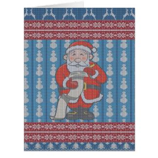 Hässliche Weihnachtsstrickjacke Sankt Karte