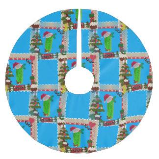 hässlicher Weihnachtsessiggurkenweihnachtsbaumrock Polyester Weihnachtsbaumdecke