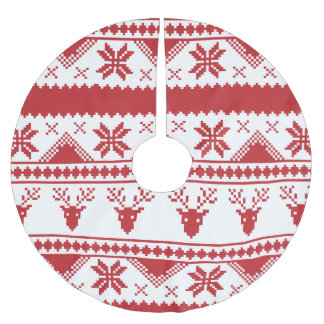 hässlicher Weihnachtsstrickjackeweihnachtsbaumrock Polyester Weihnachtsbaumdecke