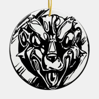 Hässliches Amulett Rundes Keramik Ornament